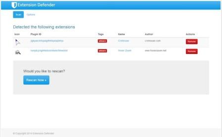 Detecta extensiones con publicidad en Chrome con Extension Defender