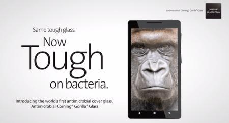 Presentan nueva Gorilla Glass que te protege de las bacterias de la mano