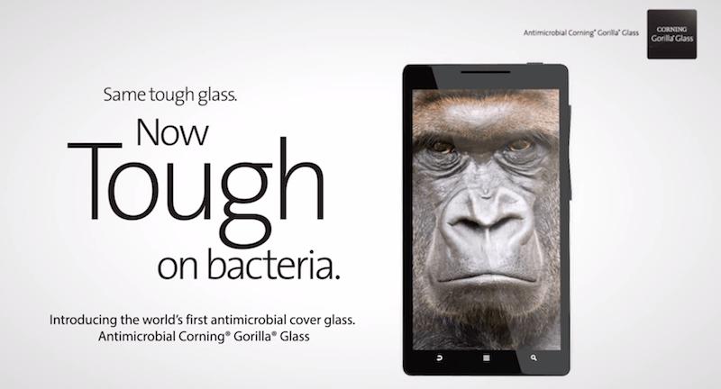 Presentan nueva Gorilla Glass que te protege de las bacterias de la mano - Gorilla-Glass-Antibacterias