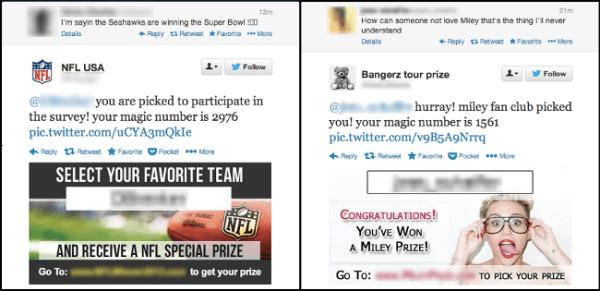 Fans del Super Bowl y de Miley Cirus son los nuevos blancos del spam - NFL-Miley-Cyrus-1