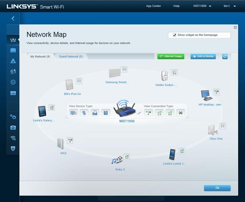 Linksys WRT 1900, un router de próxima generación inspirado en un clásico [CES 2014] - Network-Map-online-and-offline-Linksys-WRT