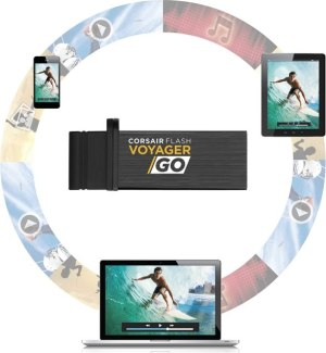 Corsair presenta una Flash USB compatible con PCs, Smartphones y tablets Android - VoyagerGo_ecosystem