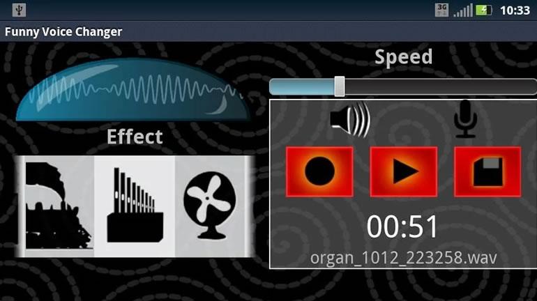 Cambiar la voz con voces divertidas en Android | Funny Voice Changer - cambiar-la-voz-programa-funny-voice-changer