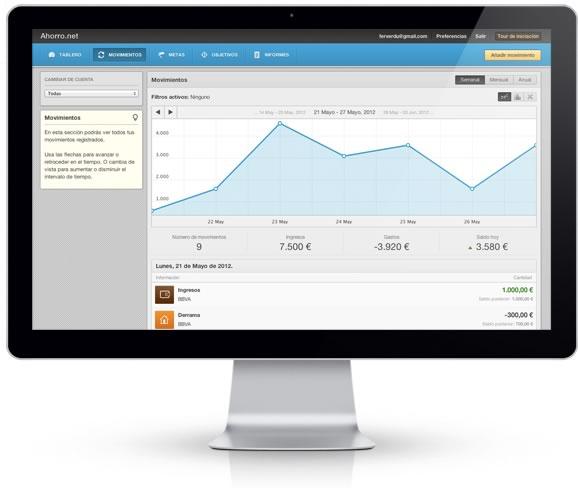 Ahorro.net, aplicación web para controlar gastos y aprender a ahorrar - controlar-gastos-app