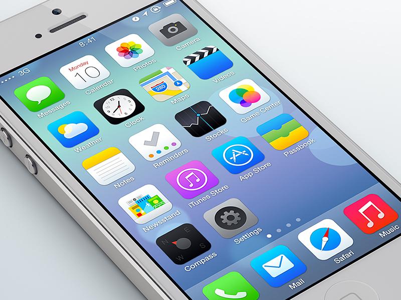 iOS 7 corregirá el error garrafal de asimetría en su diseño - ios-7