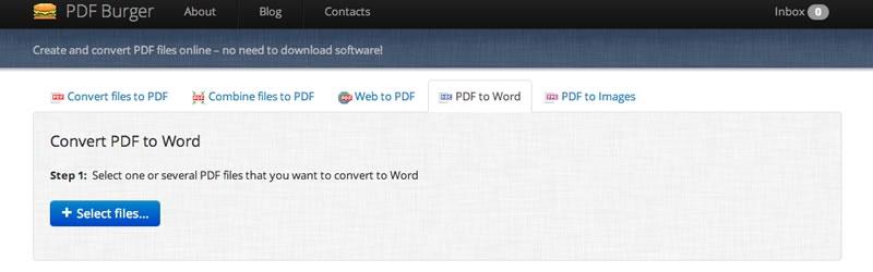 Convertir PDF a Word y mucho más online y gratis en PDF Burger - pdf-a-word
