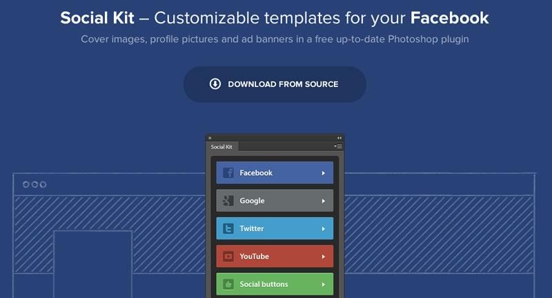 socialkit perfiles redes sociales Social Kit, Plugin de photoshop para crear diseños en redes sociales