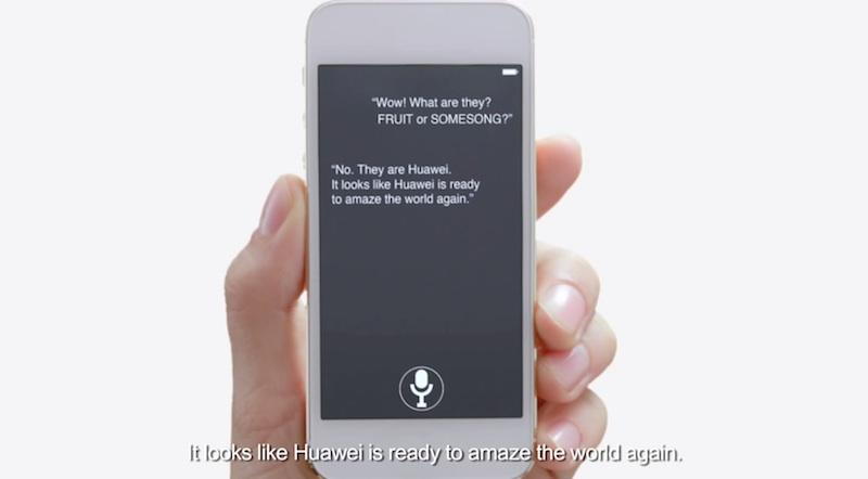 Huawei se burla de Apple y Samsung en su nuevo comercial - Comercial-Huawei