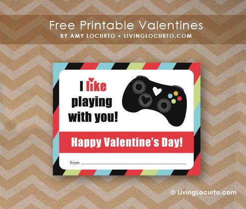 Tarjetas de San Valentín para Gamers que puedes imprimir - Gamer-Valentine
