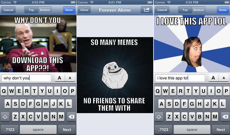 Crear memes desde tu celular con estas apps para iOS, Android y Windows Phone - crear-memes-iphone