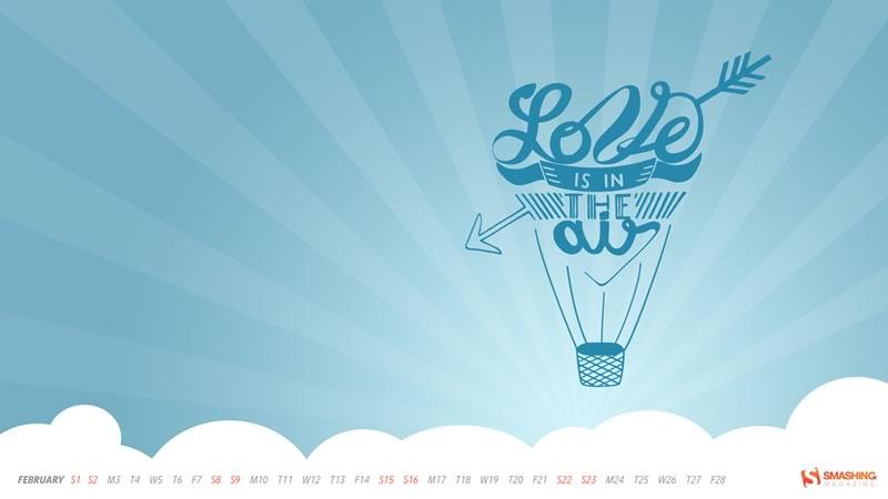 Fondos de Febrero 2014 para decorar tu escritorio y celular - fondos-febrero-love-is-in-the-air