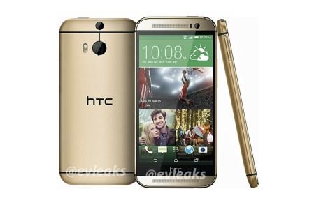 Se filtra la apariencia del nuevo teléfono insignia de HTC y aparece en color dorado