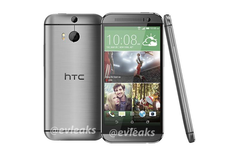 Se filtra la apariencia del nuevo teléfono insignia de HTC y aparece en color dorado - htc-one-2014-plata-800x524