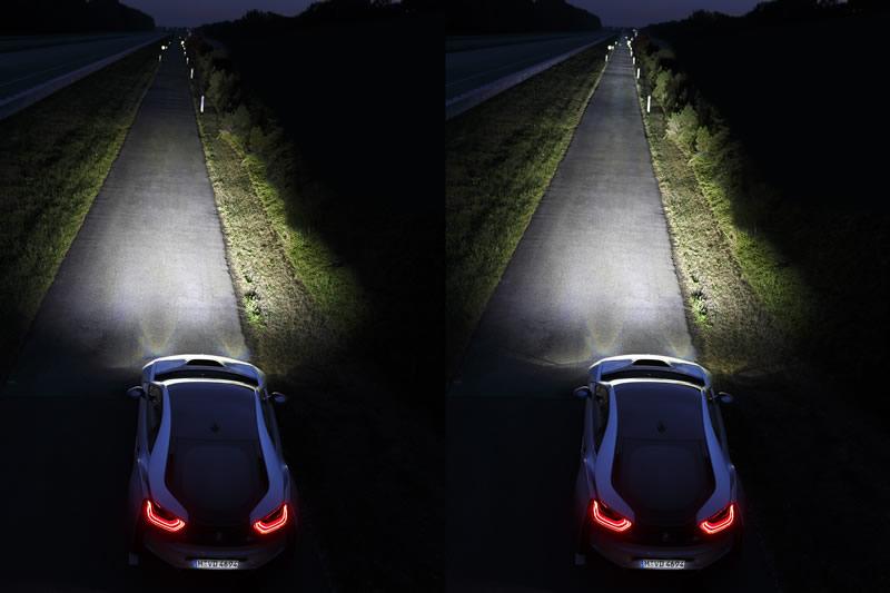 BMW i8 el primer auto en incorporar la tecnología de luz láser - luz-laser-bmw-i8