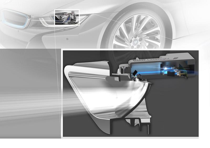 BMW i8 el primer auto en incorporar la tecnología de luz láser - luz-laser-bmw