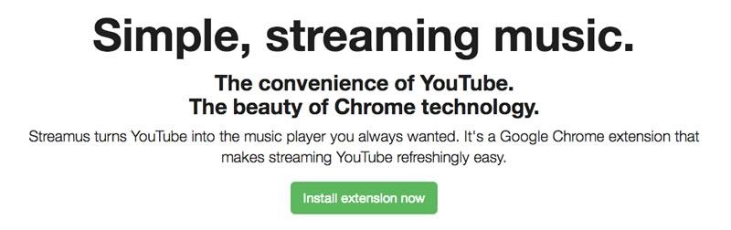 Escuchar música de YouTube desde Chrome con Streamus - streamus-chrome