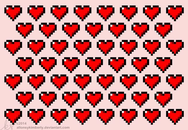 tarjetas san valentin gamer imprimir 8 bit Tarjetas de San Valentín para Gamers que puedes imprimir