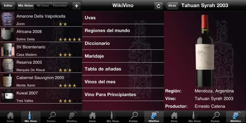 Aplicaciones de vinos para iPhone - vinoguia-apps-vinos-iphone
