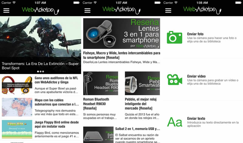 App de WebAdictos para Android y iPhone - webadictos-app-iphone-android