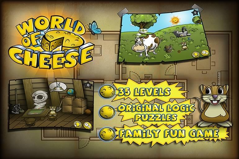 World of Cheese, divertido juego de rompecabezas para iOS y Android - world-of-cheese-juego-android