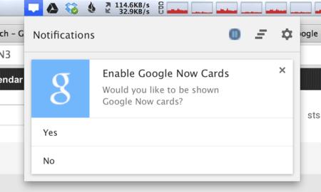 Cómo deshabilitar las notificaciones de Google Now en Chrome