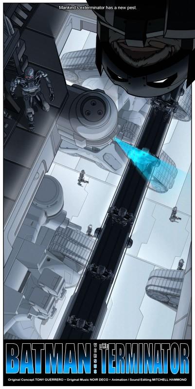 Batman vs Terminator, un genial corto animado que debes ver - batman-vs-terminator-corto-401x800