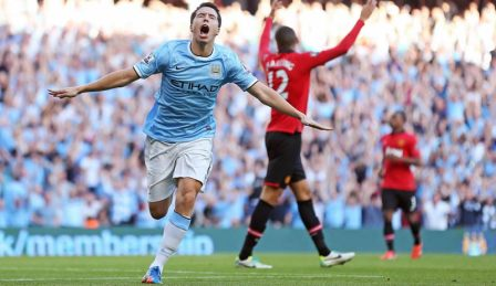 Manchester United vs Manchester City en vivo, Premier League 2014
