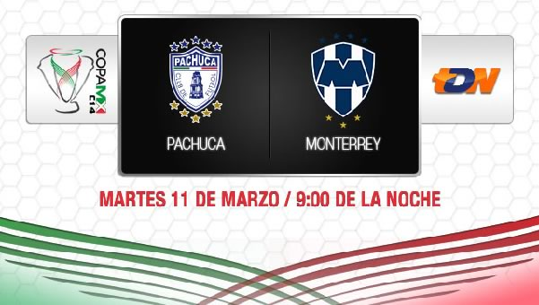 Pachuca vs Monterrey en vivo, Copa MX 2014 - pachuca-vs-monterrey-en-vivo-copamx