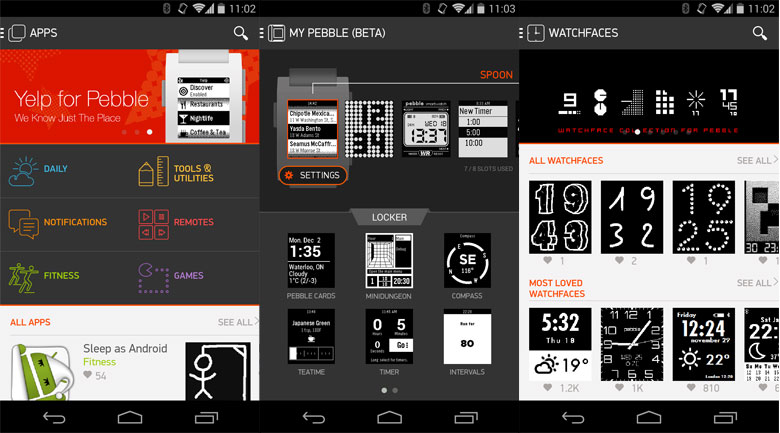 Aplicaciones de Pebble llegan por fin a Android - pebble-android-app1