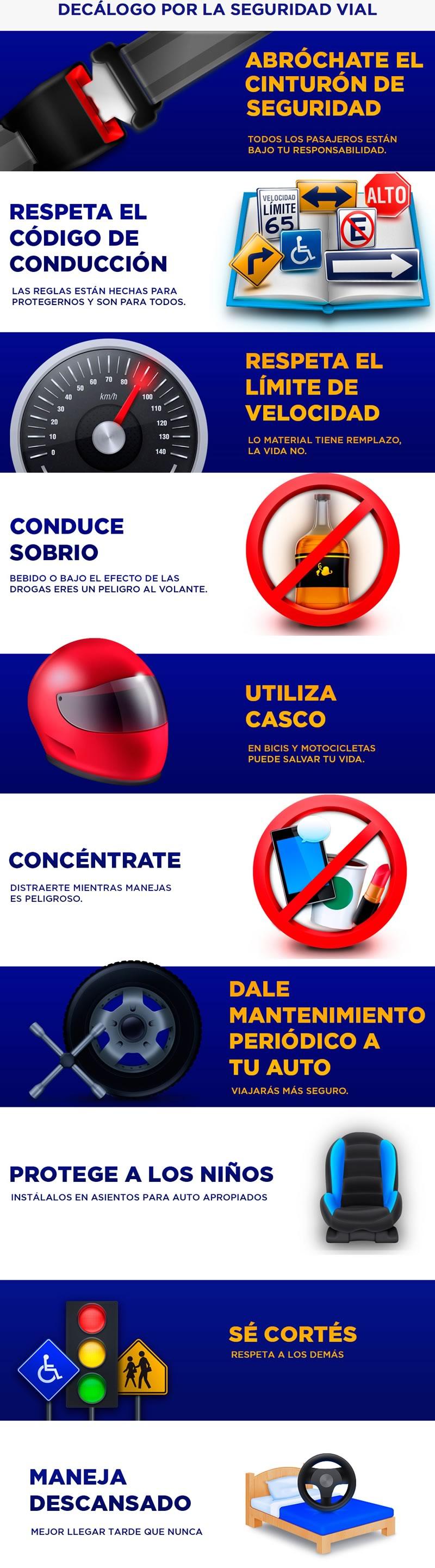 10 cosas que debes hacer para prevenir accidentes de tránsito - prevenir-accidentes-decalogo-seguridad-vial