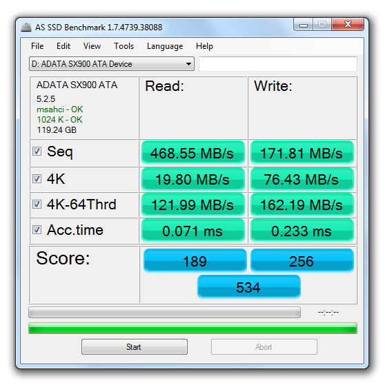 Disco SSD ADATA XPG SX900 de 128GB [Reseña] - 171