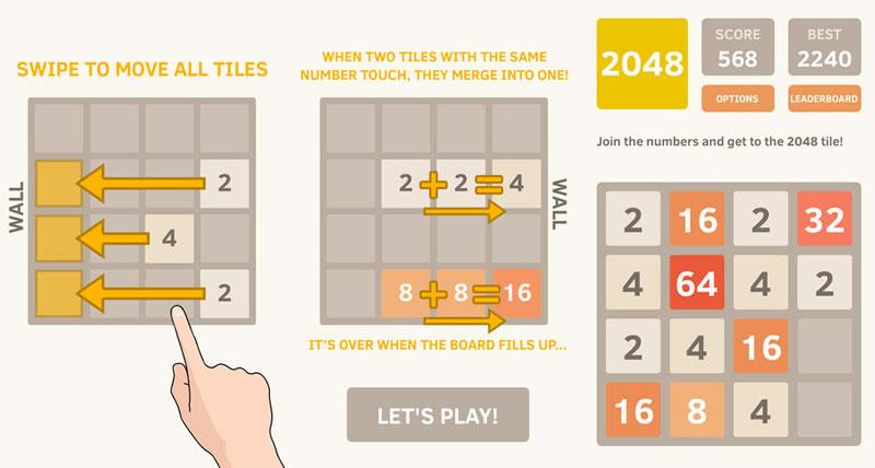 2048, el nuevo y adictivo juego que tienes que probar - 2048-ios