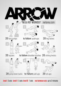 Rutinas de Ejercicios inspiradas en Superheroes - arrow-workout