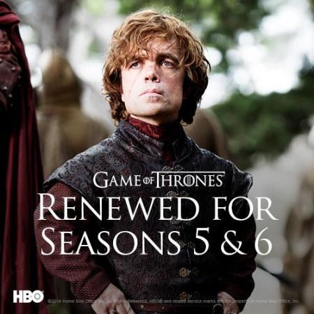 Game of Thrones confirma temporadas 5 y 6