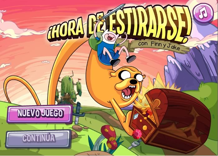 Juegos de hora de aventura en Cartoon Network - juegos-de-hora-de-aventura-hora-de-estirarse-finn-jake