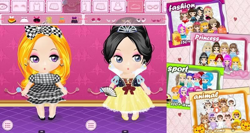 5 Juegos de vestir gratis para niñas en Android - juegos-de-vestir-dress-up-doll-salon