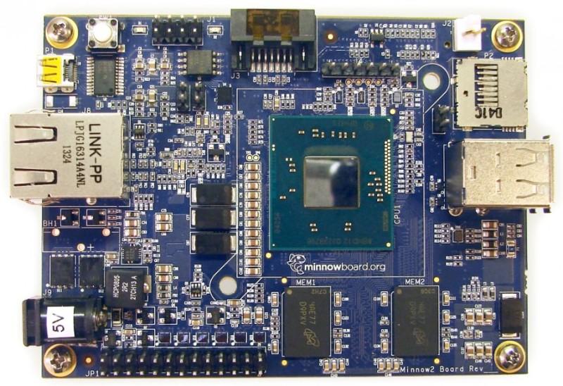 Intel lanza minicomputadora más pequeña que la Raspberry Pi - minnowboard-max-800x548