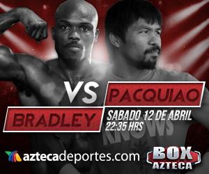 Pacquiao vs Bradley en vivo por internet, Sábado 12 de Abril