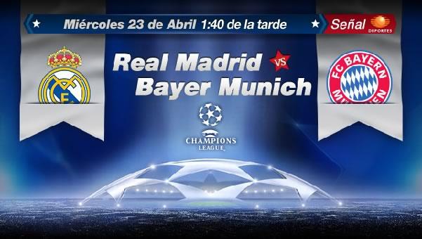 Real Madrid vs Bayern Munich en vivo, Semifinal Champions League 2014 (ida) - real-madrid-vs-bayern-en-vivo-televisa