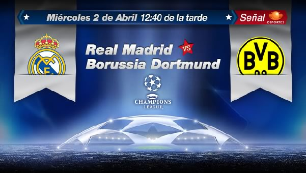 Real Madrid vs Borussia Dortmund en vivo, Cuartos Champions 2014 (ida)