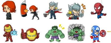 Descarga los stickers de WeChat con los Súper Héroes de Marvel gratis