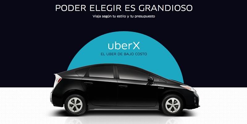 Uber y WebAdictos te regalan $250 para que te transportes como un VIP - uberx-uber-bajo-costo