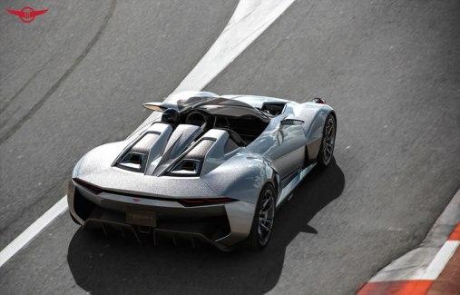 Rezvani BEAST, el auto deportivo con piezas impresas en 3D - Rezvani-Beast-race-track