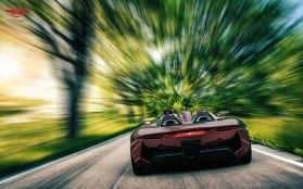 Rezvani BEAST, el auto deportivo con piezas impresas en 3D - Rezvani-Beast-road