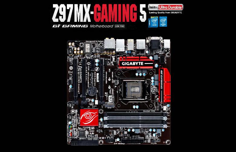 Gigabyte presenta sus nuevas tarjetas madre Serie 9 en México - Tarjeta-madre-GIGABYTE-Z97MX-Gaming-5