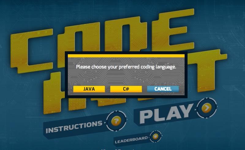 Code Hunt, un juego para aprender a programar de Microsoft - code-hunt-seleccionar-lenguaje