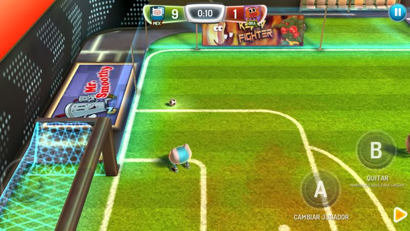 Copa Toon para iPhone y iPad, un divertido juego de futbol multijugador - copa-toon-2014-controles