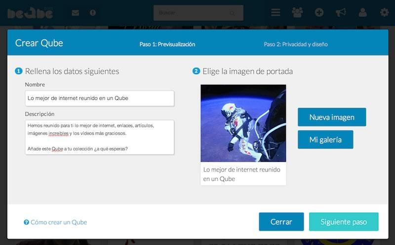 beQbe, la red social en español que debes conocer - crear-Qbe