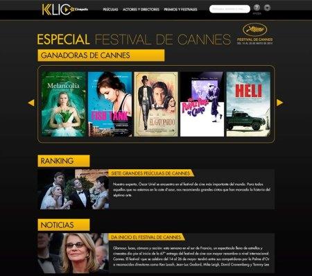 El Festival de Cannes online en Cinepolis Klic
