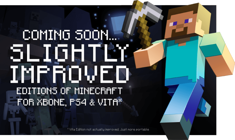 minecraft 800x476 Minecraft llegará a PS4, Xbox One y PlayStation Vita en agosto